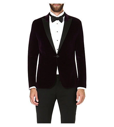 HUGO Aino velvet jacket (Purple