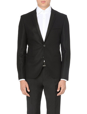 HUGO Amint contrast-lapel wool-blend jacket