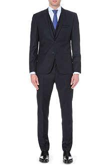 HUGO Slim-fit three-piece wool suit