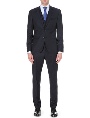HUGO Slim-fit three-piece wool suit