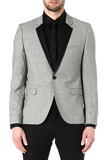 HUGO BOSS Att micro-gingham wool jacket