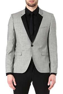 HUGO BOSS Att micro-gingham wool jacket