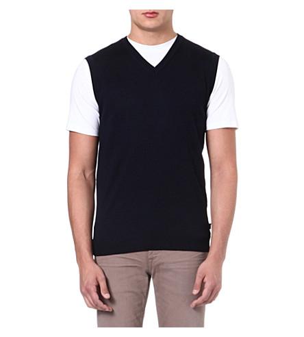 HUGO BOSS Babard knitted vest (Navy