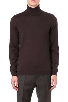 HUGO BOSS Slim fit roll neck wool jumper