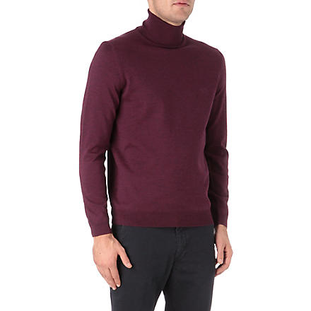 HUGO BOSS Roll neck knitted jumper (Pink