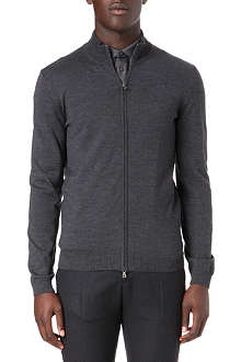 HUGO BOSS Extrafine merino wool zip cardigan
