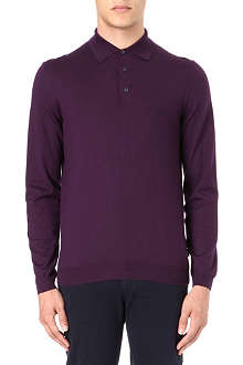 HUGO BOSS Banet knitted polo shirt