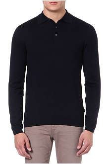 HUGO BOSS Banetto-3 knitted polo jumper