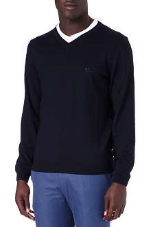 HUGO BOSS Batisse knitted v-neck jumper