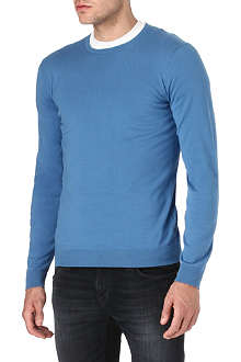 HUGO BOSS Brantton knitted-cotton jumper
