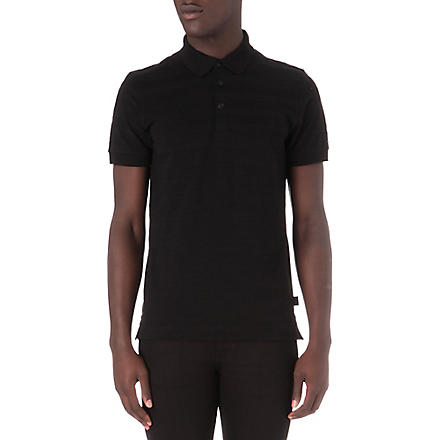HUGO BOSS Short-sleeved polo shirt (Black