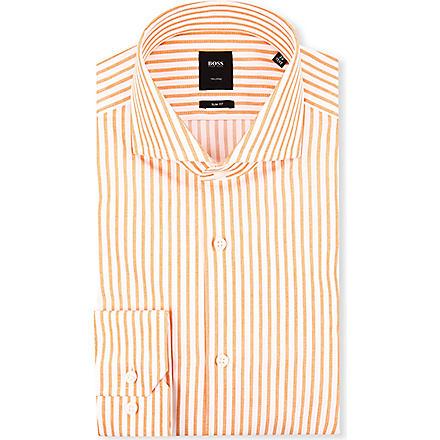 HUGO BOSS Christo slim-fit single-cuff shirt (Orange
