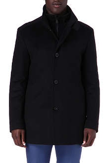 HUGO BOSS Coxtan wool and cashmere-blend coat