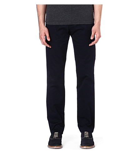 HUGO BOSS Crigan stretch-cotton chinos (Navy
