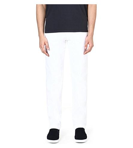 HUGO BOSS Crigan stretch-cotton chinos (White