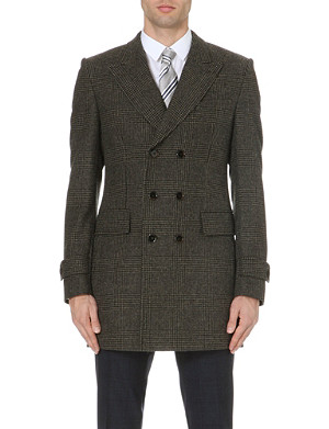 HUGO BOSS Darvin double-breasted checked coat