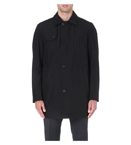 HUGO BOSS Date waterproof raincoat (Black