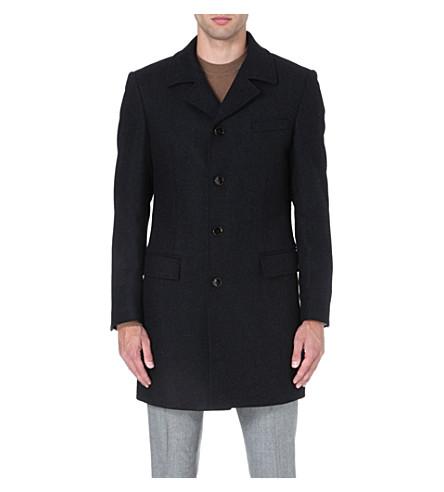 HUGO BOSS Dave patterned coat (Black