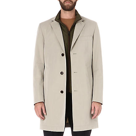 HUGO BOSS Davidson detachable-gilet coat (Beige