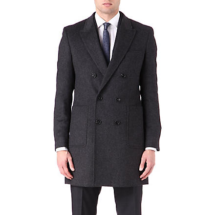 HUGO BOSS Dawn angora wool coat (Charcoal
