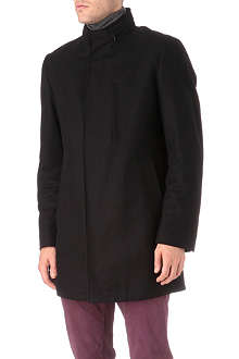HUGO BOSS Wool-blend stand collar coat