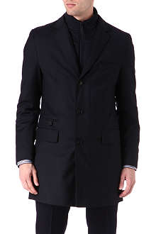 HUGO BOSS Duncan detachable collar slim-fit coat