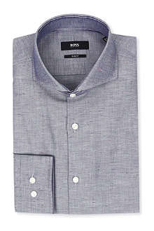 HUGO BOSS Dwayne chambray slim-fit single-cuff shirt