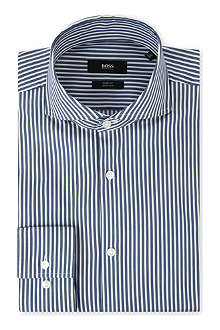HUGO BOSS Dwayne slim-fit single-cuff shirt