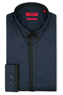 HUGO Edrion single-cuff stretch-cotton shirt