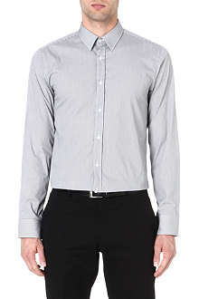HUGO BOSS Gingham-checked slim-fit shirt