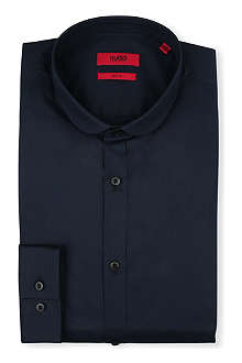 HUGO Enco penny-collar single-cuff shirt