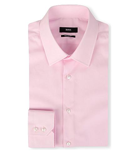 HUGO BOSS Enzo regular-fit single-cuff shirt (Pink