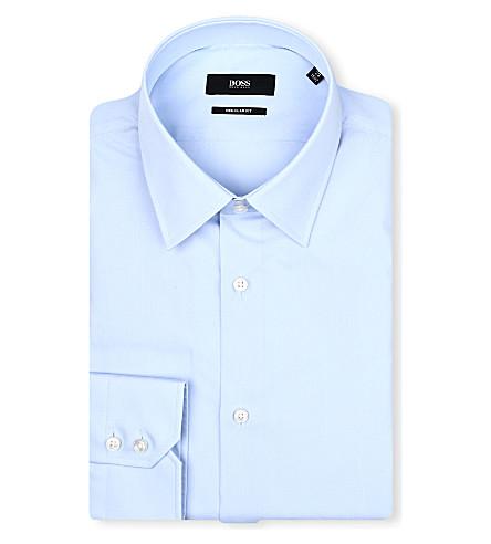 HUGO BOSS Enzo regular-fit single-cuff shirt (Sky