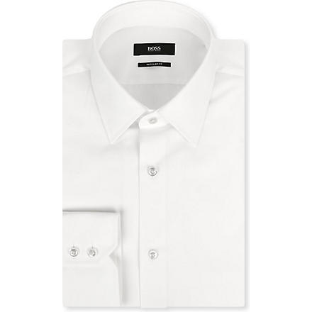 HUGO BOSS Enzo regular-fit single-cuff shirt (White