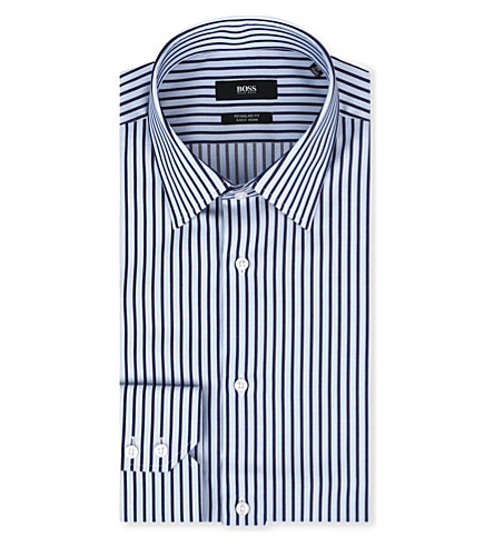 HUGO BOSS Enzo regular-fit single-cuff shirt (Sky