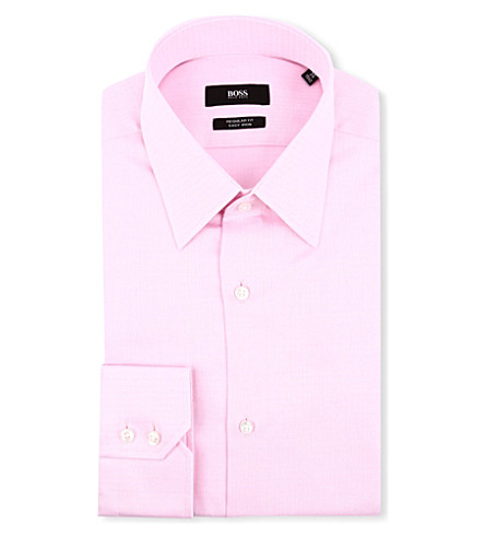 HUGO BOSS Enzo regular-fit single cuff shirt (Pink