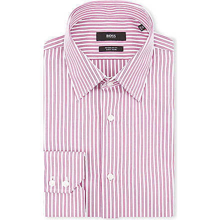 HUGO BOSS Enzo regular-fit single-cuff shirt (Pink