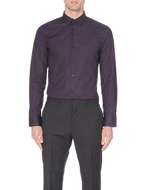 HUGO Slim-fit single-cuff shirt
