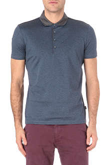 HUGO BOSS Contrast collar cotton polo shirt