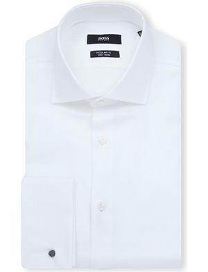 HUGO BOSS Gale regular-fit double-cuff shirt