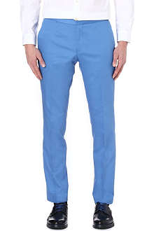 HUGO BOSS Slim sateen trousers