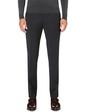 HUGO BOSS Stretch-wool slim-cut trousers