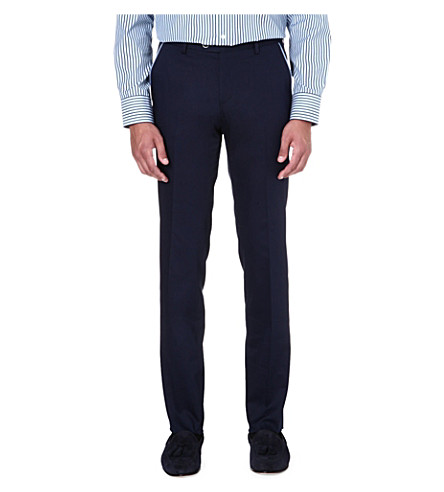 HUGO BOSS Genovo stretch-cotton trousers (Navy