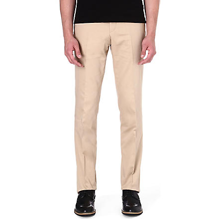 HUGO BOSS Genovo stretch-cotton trousers (Tan