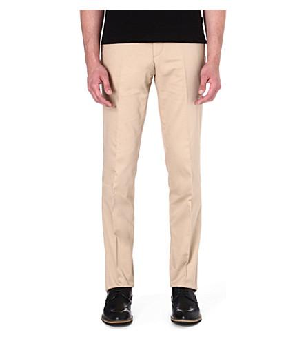 HUGO BOSS Genovo stretch-cotton trousers (Tan