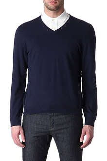 HUGO BOSS Gent v-neck slim-fit jumper