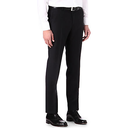 HUGO BOSS Slim adjuster wool trousers (Black