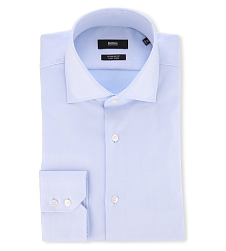 HUGO BOSS Regular-fit cotton shirt (Blue