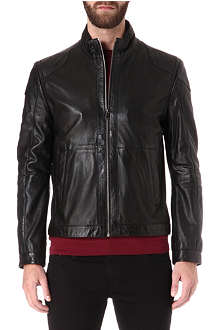 HUGO BOSS Gibson perforated-leather jacket