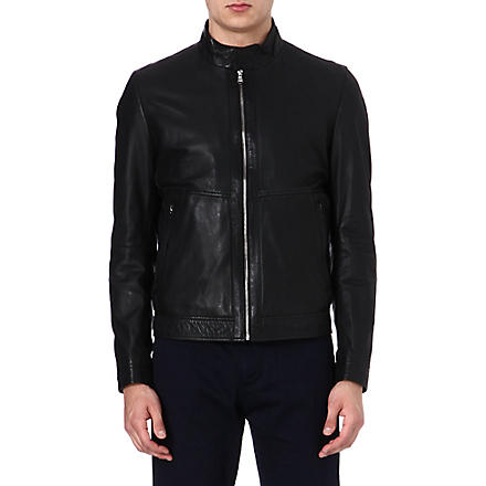 HUGO BOSS Gismo leather jacket (Black